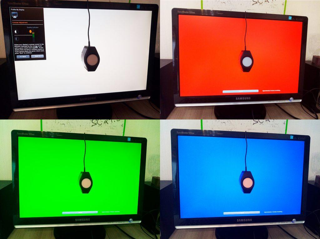 Процесс калибровки экрана